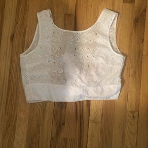 LA Hearts White Crop Top